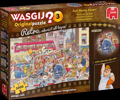 Wasgij Original 3 Retro - Werk aan de Weg! (1000 stukjes)