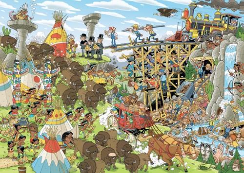 Pieces of History - Het Wilde Westen Puzzel (1000 stukjes)