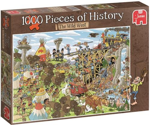Pieces of History - Het Wilde Westen Puzzel (1000 stukjes)-1