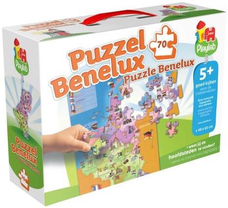 Playlab - Benelux Puzzel (70 stukjes)-1