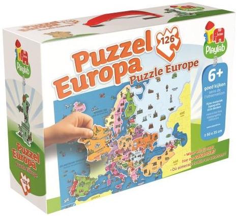 Playlab - Europa Puzzel (126 stukjes)-1