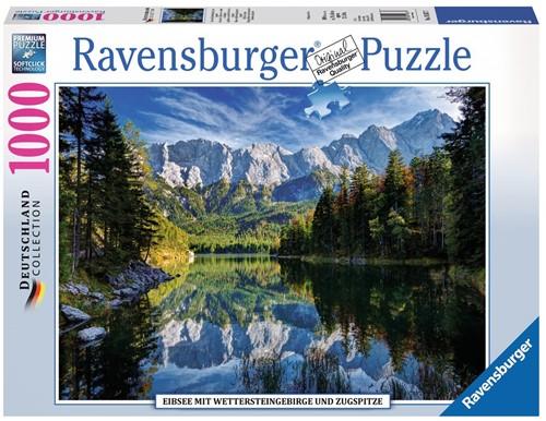 Eibsee met Wettersteingebergte en Zugspitze Puzzel (1000 stukjes)
