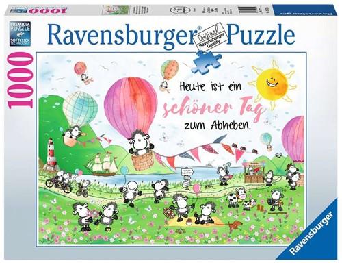 Sheepworld - Een mooie dag om op te stijgen Puzzel (1000 stukjes)