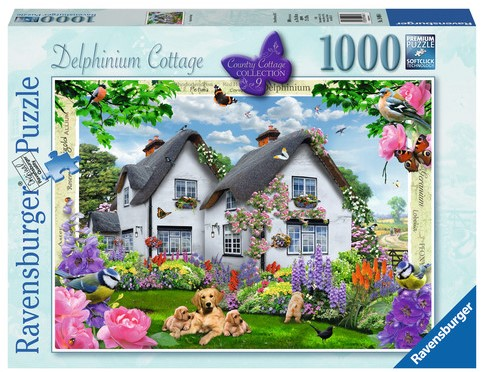 Delphinium Cottage Puzzel (1000 stukjes)