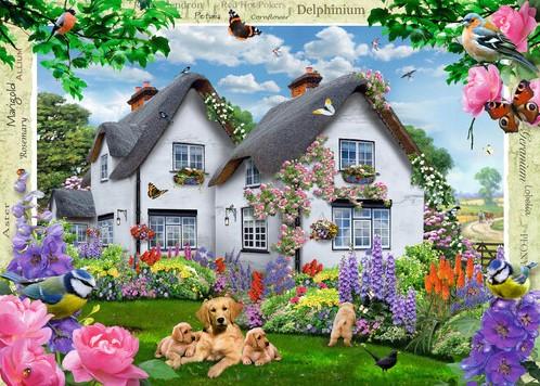 Delphinium Cottage Puzzel (1000 stukjes)-2