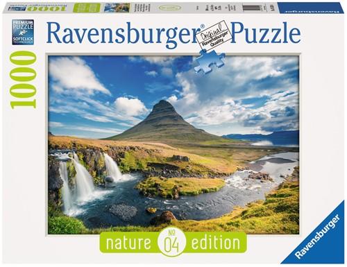 Waterval voor Kirkjufell Puzzel (1000) (Doos beschadigd)