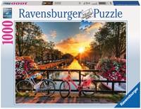 Fietsen in Amsterdam Puzzel (1000 stukjes)-1