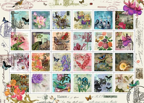 Postzegelverzameling Puzzel (1000 stukjes)-2