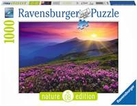 Bergweide in het Morgenrood Puzzel (1000 stukjes)