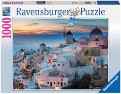 Avond in Santorini Puzzel (1000 stukjes)