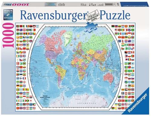 Staatkundige Wereldkaart Puzzel (1000 stukjes)