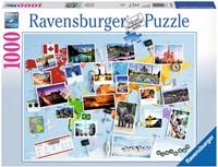 Reis om de Wereld Puzzel (1000 stukjes)