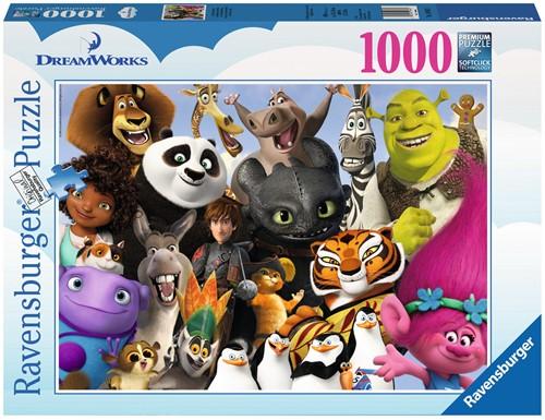 Dreamworks Familie Puzzel (1000 stukjes)-1