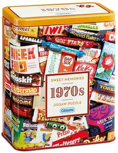 1970s Sweet Memories Gift Tin Puzzel (500 stukjes)