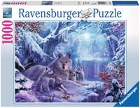 Wolven in de Winter Puzzel (1000 stukjes)-1