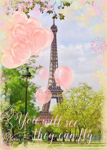 Balonnen bij de Eiffeltoren Puzzel (1000 stukjes)-2