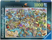 Europese Wonderen Puzzel (1000 stukjes)