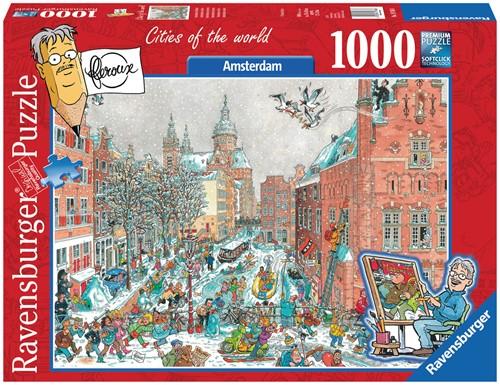 Fleroux - Amsterdam Winter Puzzel (1000 stukjes)