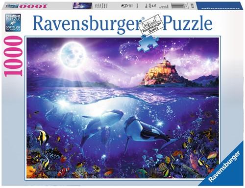 Walvissen in de Maneschijn Puzzel (1000 stukjes)-1