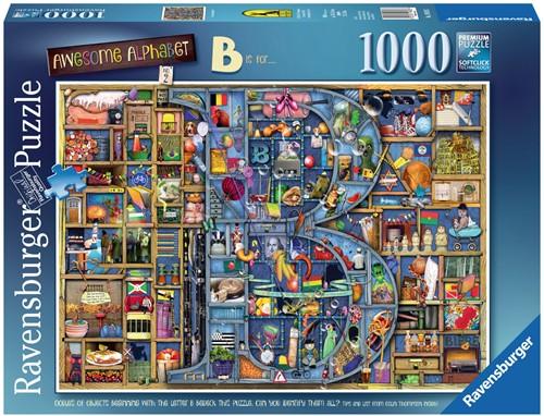 "Awesome Alphabet ""B"" - Colin Thompson Puzzel (1000 stukjes)"