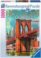 Retro New York Puzzel (1000 stukjes)-1