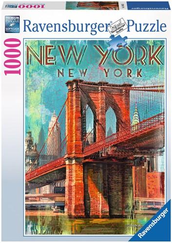 Retro New York Puzzel (1000 stukjes)