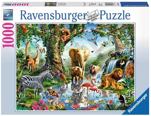 Avonturen in de Jungle Puzzel (1000 stukjes)