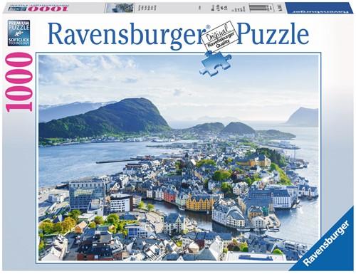 Blik over Alesund Puzzel (1000 stukjes)