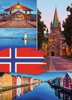 Trondheim Collage Puzzel (1000 stukjes)-2