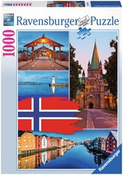 Trondheim Collage Puzzel (1000 stukjes)