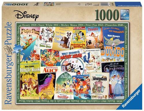Disney Vintage Movie Poster Puzzel (1000 stukjes)