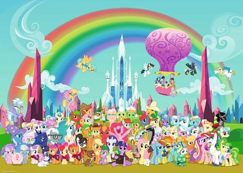 My Little Pony - Onder de Regenboog Puzzel (1000 stukjes)-2