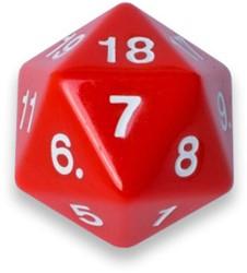 20-zijdige Dobbelsteen - 55mm Rood