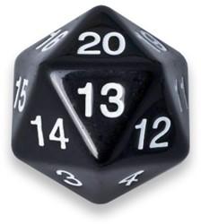 20-zijdige Dobbelsteen - 55mm Zwart