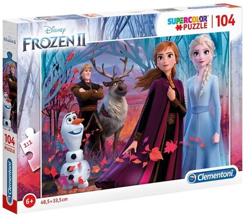 Frozen 2 - Supercolor Puzzel (104 stukjes)
