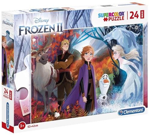 Frozen 2 - Supercolor Maxi Puzzel (24 stukjes)