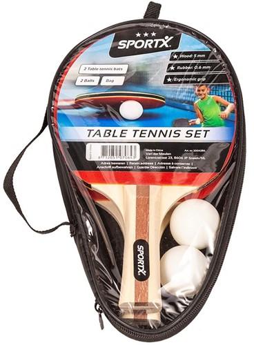 SportX - Tafeltennis Set Tas (3 sterren)