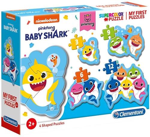 Baby Shark - 4 in 1 Puzzel