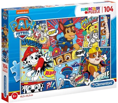 Paw Patrol Cartoon Puzzel (104 stukjes)