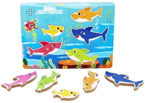 Baby Shark - Houten Puzzel met Geluid (Open gemaakt)