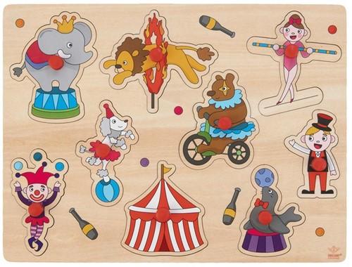Houten Knopjes Puzzel Circus