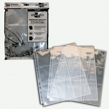 Blackfire 9-Pocket Pages - Clear Side Loading (50 stuks)