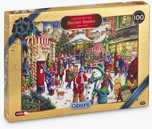 Secret Santa Christmas - limited Edition Puzzel (1000 stukjes)
