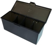 Blackfire 4-Compartment Storage Box - Zwart-2