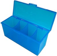 Blackfire 4-Compartment Storage Box - Blauw-2