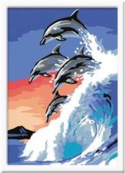 Schilderen Op Nummer Dolfijnendans