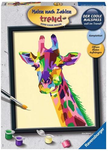 Schilderen op Nummer - Bonte Giraffe