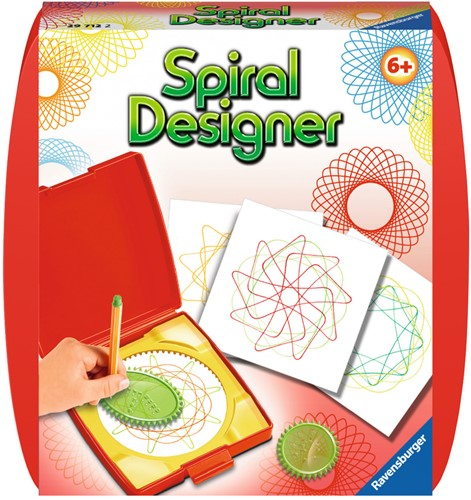 Mini Spiral Designer Rood