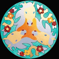 Mandala Designer - Metallic Horses-2