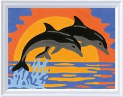Schilderen Op Nummer Dolfijnenromantiek